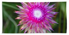 Thistle With Personality Beach Towel by Shirley Moravec