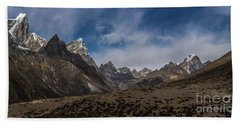 Beach Towel featuring the photograph Thokla Pass Nepal by Mike Reid