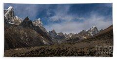 Beach Sheet featuring the photograph Thokla Pass Nepal by Mike Reid