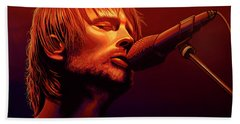 Thom Yorke Of Radiohead Beach Towel
