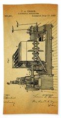 Thomas Edison Generator Patent Beach Towel by Dan Sproul