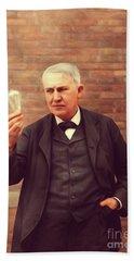Thomas Edison, Inventor Beach Towel