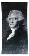Beach Towel featuring the photograph Thomas Jefferson by Richard W Linford