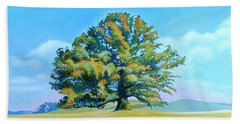 Thomas Jefferson's White Oak Tree On The Way To James Madison's For Afternoon Tea Beach Towel