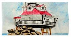 Thomas Point Lighthouse Beach Towel