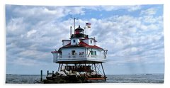 Thomas Point Lighthouse Beach Towel