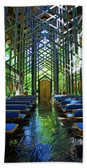 Beach Sheet featuring the photograph Thorncrown Chapel Serenity by Cricket Hackmann