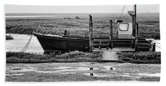 Thornham Harbour, North Norfolk Beach Sheet by John Edwards