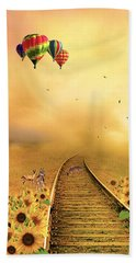 Those Infernal Flying Machines Beach Towel by Diane Schuster