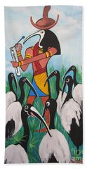 Thoth - What's With The Sombrero Beach Towel by Sigrid Tune