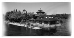 Thousand Islands In Black And White Beach Sheet