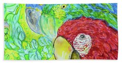 Beach Sheet featuring the painting Three Amigos by Susan D Moody