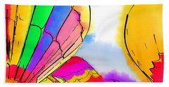 Beach Towel featuring the digital art Three Balloons by Kirt Tisdale
