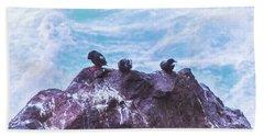 Beach Towel featuring the photograph Three Birds by Jonny D