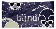 Three Blind Mice Children Chalk Art Beach Sheet by Mindy Sommers