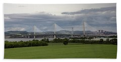 Three Bridges Over The Forth Beach Towel