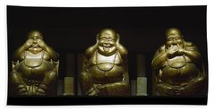 Three Buddhas Beach Towel