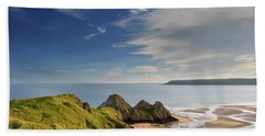 Three Cliffs Bay 4 Beach Towel