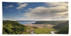 Three Cliffs Bay 6 Beach Towel