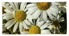 Three Daisies Beach Towel