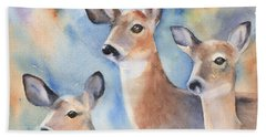 Three Deer Beach Towel