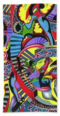 Three Disguises Of An Abstract Thought Beach Towel