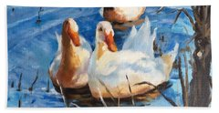 Three Ducks Beach Towel