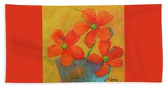 Three Flowers Beach Towel