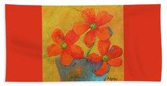 Three Flowers Beach Sheet