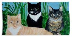 Three Furry Friends Beach Sheet