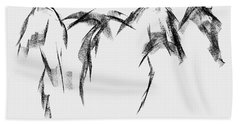 Three Horse Sketch Beach Sheet by Frances Marino