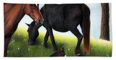 Three Horses Beach Towel