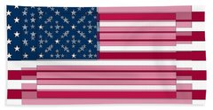Three Layered Flag Beach Towel by David Bridburg
