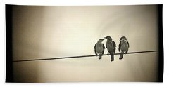 Three Little Birds Beach Towel