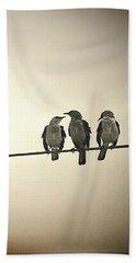 Three Little Birds Beach Towel