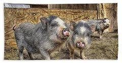 Three Little Piggies Beach Towel