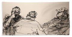 Three Men At Tims Beach Towel