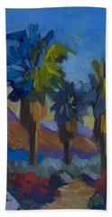 Three Palms At Palm Desert Beach Towel