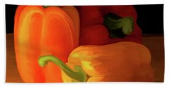 Three Peppers 01 Beach Sheet by Wally Hampton