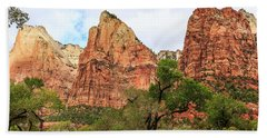 Three Sisters At Zion Beach Towel