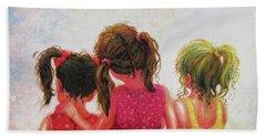 Three Sisters Brunette, Redhead, Blonde Beach Towel