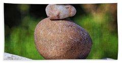Beach Sheet featuring the photograph Three Stones by Ella Kaye Dickey