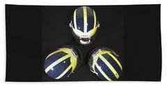 Three Striped Wolverine Helmets Beach Sheet
