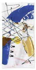Three Color Palette Blue 3 Beach Towel by Michal Mitak Mahgerefteh