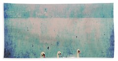 Three Swans Beach Towel