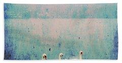 Three Swans Beach Towel by Joana Kruse