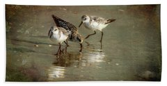 Three Together Beach Sheet by Marvin Spates