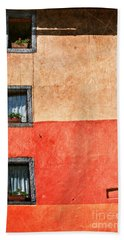 Three Vertical Windows Beach Towel