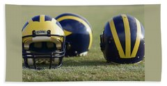 Three Wolverine Helmets Beach Sheet