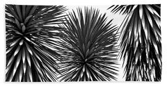 Beach Towel featuring the photograph Three Yuccas by John Bartosik